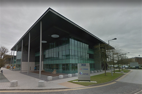 MHI Vestas has opened a new administrative office in Warrington, northwest England (pic: Google Maps)