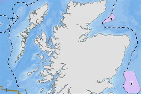 The Moray block (marked 1 here) is 22 kilometres off north east Scotland
