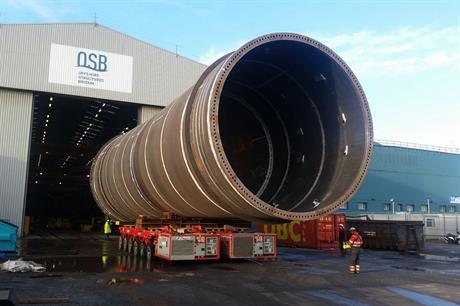 OSB fabrication yard in Teesside, north-east England