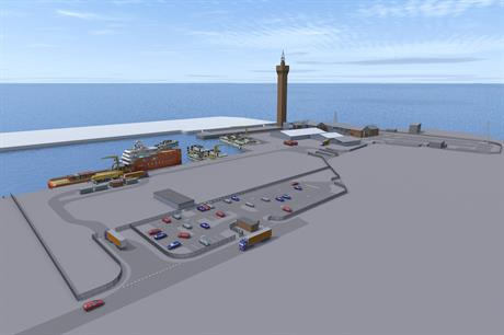 The plan for Ørsted's East Coast Hub port in Grimsby, northeast England