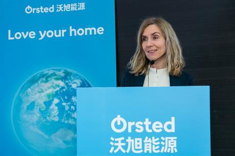 Ørsted CFO Marianne Wiinholt in Taiwan