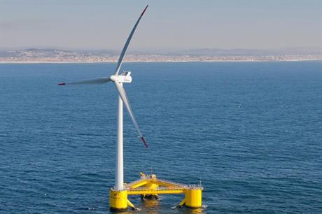 A 2MW prototype WindFloat has been installed of the coast of Portugal since 2011