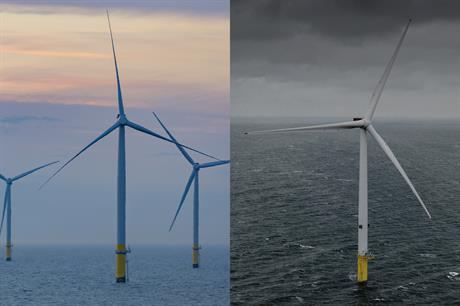 MHI Vestas' V164 turbine is loosening SGRE's grip on the global offshore market (Pics: Ørsted / MHI Vestas)