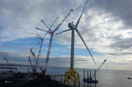 Samsung Heavy Industry's 7MW turbine has been completed at Energy Park Fife
