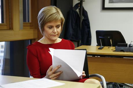 Nicola Sturgeon became Scottish first minister in November 2014