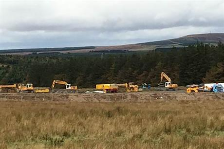 Construction work has started at Spittal, Caithness