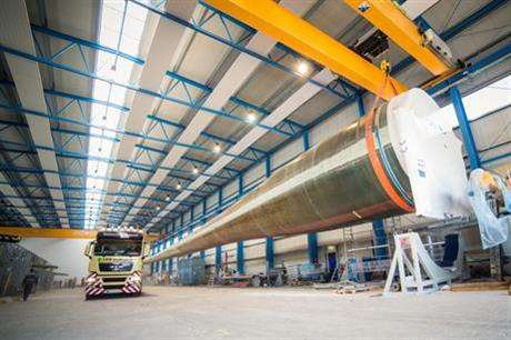 The rotor blade has a length of 81.6 metres