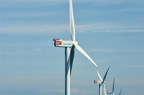Senvion's 6.2MW-126 turbine will be used at Nordergrunde
