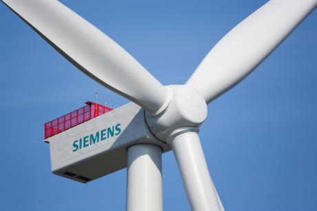 Siemens offshore business contributed a smaller proportion of revenues