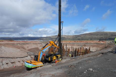 Siemens piling work at Hunterston Test Centre for Offshore Wind