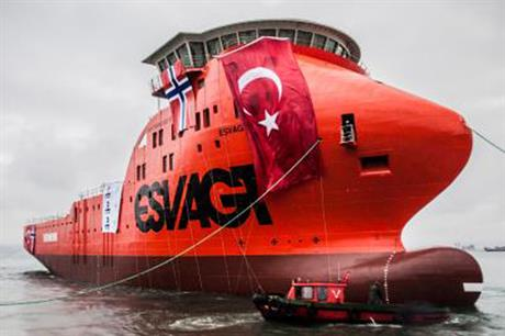 The hulls for the first two vessels were constructed in Turkey