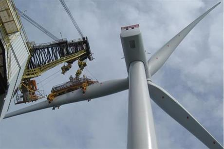 The first 6MW Siemens turbine has been installed at the Galloper project