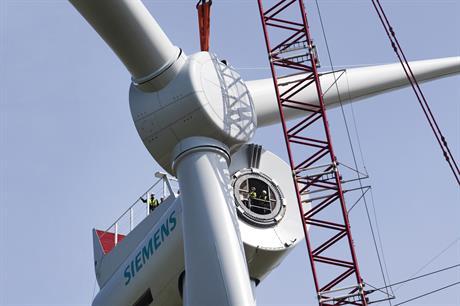 Siemens' 6MW turbine will be installed at Veja Mate