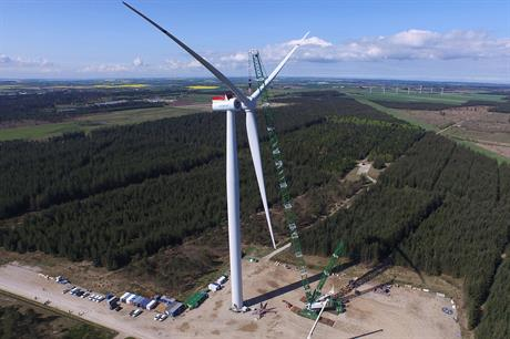 A prototype for Siemens' 7MW turbine has been installed onshore in Denmark