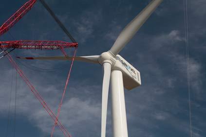 The project will use Sinovel's 6MW turbine