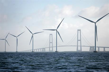 The Sprogø project can be seen from Sund & Bælt's Great Belt Bridge, making it one of the most visible wind projects in Denmark (pic: Sund & Bælt)