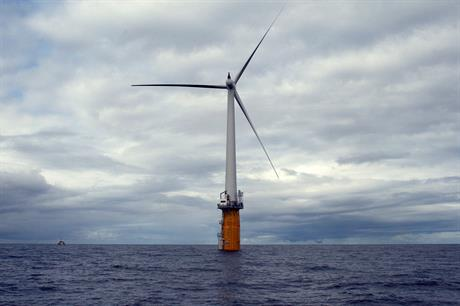 A demonstration Hywind turbine has been in operation off Norway since 2009