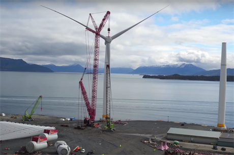 Statoil is preparing the five Hywind turbines in Norway, before transporting to the Scotland site
