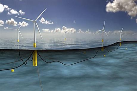 The pilot project will use five 6MW floating turbines off the coast of Scotland