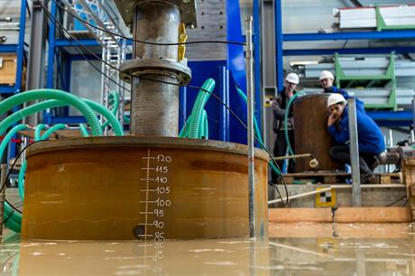 Fraunhofer IWES had carried out tests on a suction foundation at Leibniz Uniersität Hannover's Test Centre for Support Structures in northern Germany