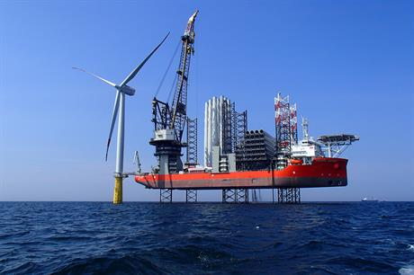 Swire Blue Oceans' Pacific Osprey jack-up vessel will be used at RWE's Galloper offshore project
