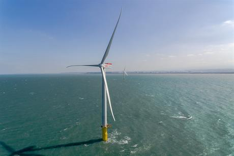 Taiwan's first offshore wind farm, the two-turbine 8MW Formosa 1 pilot project, owned by Ørsted, Macquarie and Swancor