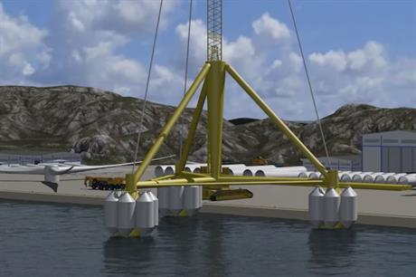 Henrik Stiesdal's TetraSpar foundation design favoured by Magellan and CIP (pic: DNV GL)