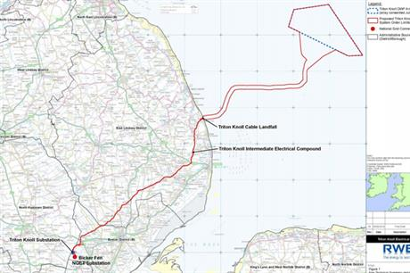 The consultation process covers the onshore electrical system for Triton Knoll