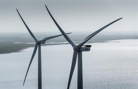 MHI Vestas' flagship V164 turbine in Maade, Denmark