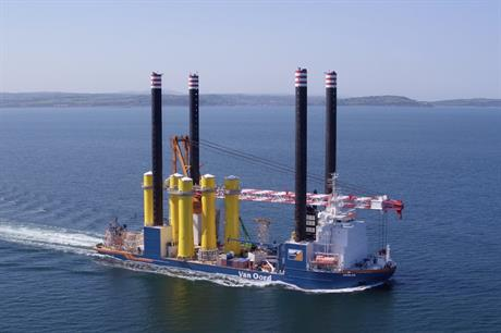Van Oord completed the installation of 87 foundations at Ørsted's 659MW Walney Extension in August