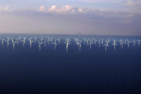 Vattenfall's 110MW Lillgrund site (above) is Sweden's largest offshore wind farm