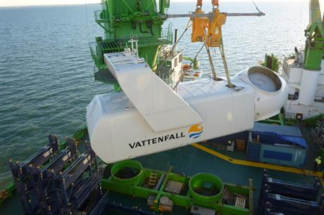 The final turbine has been installed at Vattenfall's Kentish Flats Extension