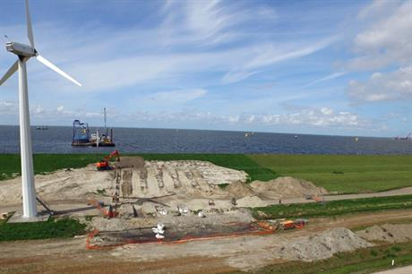 Installation of export cables has begun at Westermeerwind
