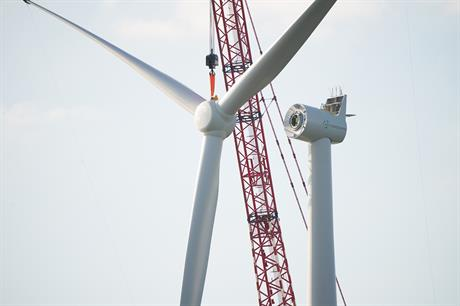 Turbine installation has been completed at Westermeerwind