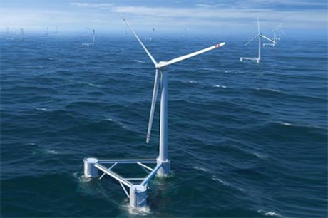 An artists impression of the floating wind farm