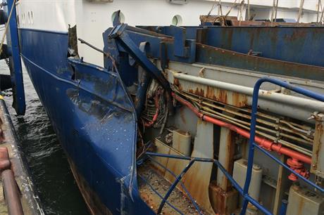 Mecklenburg-Vorpommern maritime police (Wasserschutzpolizei Mecklenburg-Vorpommern) shared pictures of the World Bora after the crash