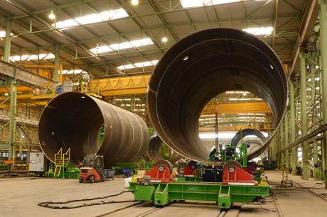 Foundations for Gode Wind 1 and 2 are being build in northern Germany