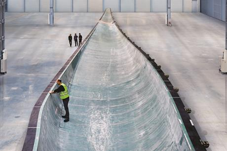 The mould for Siemen's record-breaking B75 glass-fibre blade