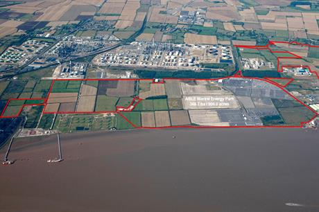 Able Marine Energy Park is located on the bank of the River Humber