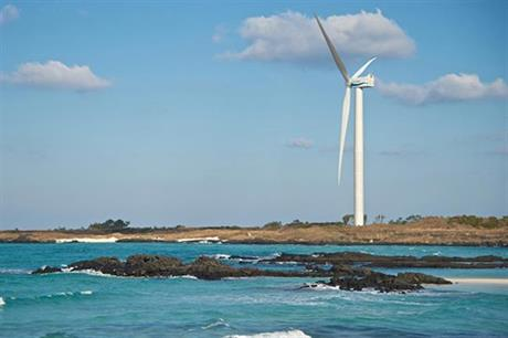A prototype of the 5.56MW turbine has been operating for on the island of Jeju for about five years