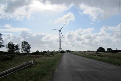 Alstom's 6MW Haliade turbine at Le Carnet, near the port of St-Nazaire