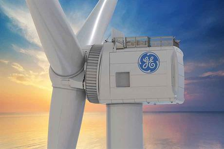 GE's Haliade-X turbine has an impressively low head mass of 600 tonnes (Pic: GE Renewable Energy)