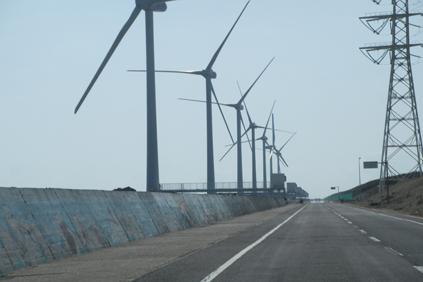 The Kamisu wind farm on Japan's east coast withstood the tsunami