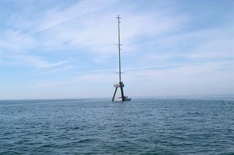 Cape Wind's meteorological tower on Nantucket Sound, off Massachusetts