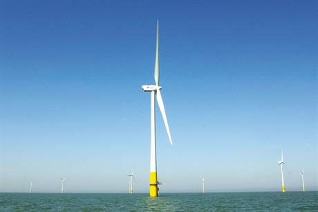 Kentish Flats wind farm in the UK was used as an example for a cost breakdown
