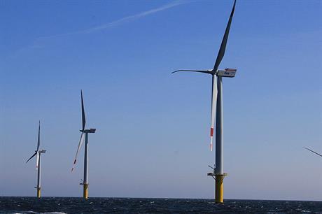 The 108MW Riffgat wind farm uses Siemens 3.6MW turbines