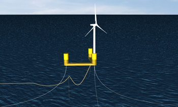 Four floating platform designs will be tested by the Forward project