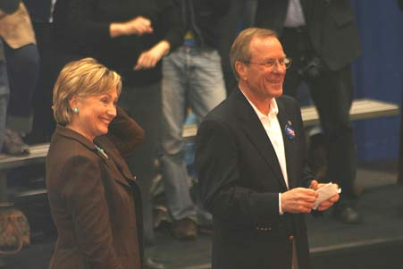 Oregon governor Ted Kulongoski with US secretary of state Hillary Clinton