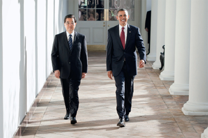 Presidents Hu Jintao and Barack Obama