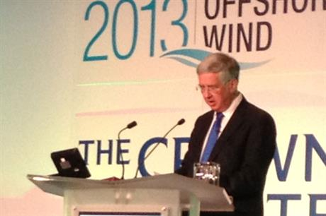 UK energy and business minister Michael Fallon